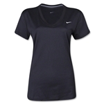 Nike Women's V-Neck Legend T-Shirt (Black)