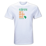 Cote d'Ivoire Country T-Shirt (White)