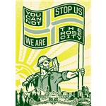 We Are the Rose City Stretched Canvas
