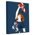 Alexi Lalas American Badass 12x18 Stretched Canvas