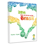 2014 FIFA World Cup Brazil Official Event Poster Stretched Canvas (Portuguese)