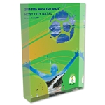 Natal 2014 FIFA World Cup Brazil Host City Poster Acrylic Block Display