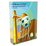 Salvador 2014 FIFA World Cup Brazil Host City Poster Acrylic Block Display