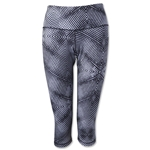 adidas Performer Mid-Rise Energy Print 3/4 Tight (Wh/Bk)