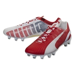 PUMA evoSpeed 1.3 FG (White/High Risk Red/Empire Yellow)