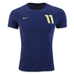 Nike Neymar Hero Name & No. T-Shirt 2014 (Royal)