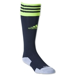 adidas Copa Zone Cushion II Irregular Sock 3 Pack (Black/Lime)