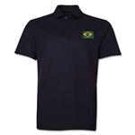Brazil Flag Soccer Polo (Black)