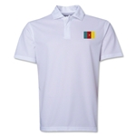 Cameroon Flag Soccer Polo (White)