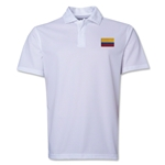 Colombia Flag Soccer Polo (White)