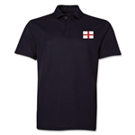 England Flag Soccer Polo (Black)