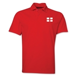 England Flag Soccer Polo (Red)