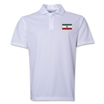 Iran Flag Soccer Polo (White)