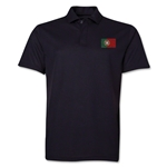 Portugal Flag Soccer Polo (Black)