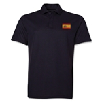 Spain Flag Soccer Polo (Black)
