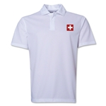 Switzerland Flag Soccer Polo (White)
