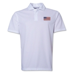 USA Flag Soccer Polo (White)