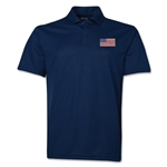 USA Flag Soccer Polo (Navy)