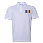 Romania Flag Soccer Polo (White)