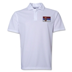 Serbia Flag Soccer Polo (White)