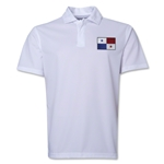 Panama Flag Soccer Polo (White)