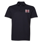 Georgia Flag Soccer Polo (Black)