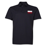 Poland Flag Soccer Polo (Black)