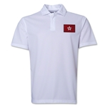 Hong Kong Flag Soccer Polo (White)