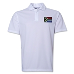 South Africa Flag Soccer Polo (White)