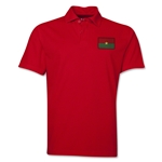 Burkina Faso Flag Soccer Polo (Red)