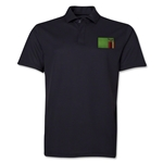 Zambia Flag Soccer Polo (Black)