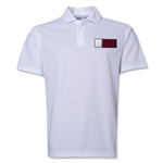 Qatar Flag Soccer Polo (White)