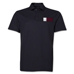 Qatar Flag Soccer Polo (Black)