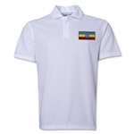 Ethiopia Flag Soccer Polo (White)
