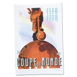 1938 FIFA World Cup France Poster
