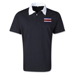 Costa Rica Retro Flag Shirt (Black)