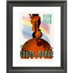 1938 FIFA World Cup France Poster Framed Print