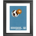 1962 FIFA World Cup Chile Poster Framed Print
