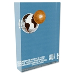 1962 FIFA World Cup Chile Poster Acrylic Block