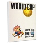 1966 FIFA World Cup England Poster Stretched Canvas