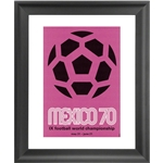 1970 FIFA World Cup Mexico Poster Framed Print