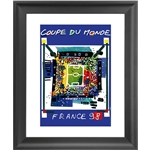 1998 FIFA World Cup France Poster Framed Print