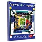 1998 FIFA World Cup France Poster Stretched Canvas