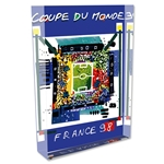 1998 FIFA World Cup France Poster Acrylic Block