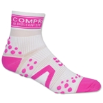 Compressport Racing Sock V2 Run High Cut (White/Pink)