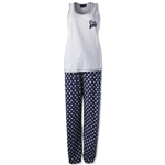 Chelsea Women's PJ Set (White/Navy)