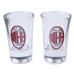AC Milan 2 Pack Shot Glasses