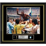 Pele Signed Brazil Photo 2