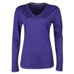 Nike Women's V-Neck Legend Long Sleeve T-Shirt (Violet)