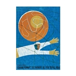 1954 FIFA World Cup Switzerland Poster Bamboo Wood Print